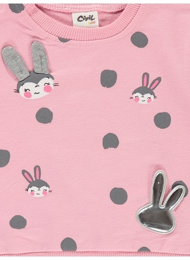 Civil Baby Sweatshirt Pembe